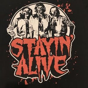 Zombie Bee Gees stayin' alive tee